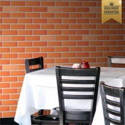 Papel de parede tijolinho colonial 3D lavável