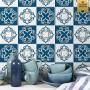 Adesivo de azulejo azul nicole