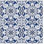 Adesivo de azulejo cozinha aveiro azul 1,20 x 0,60