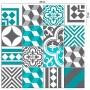 Adesivo de azulejo mix Peniche turquesa
