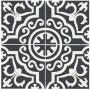 Adesivo para piso ladrilho preto com branco antiderrapante