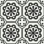 Adesivo para piso ladrilho preto e branco off  lavável