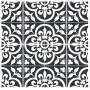 Adesivo para piso preto e branco antiderrapante lavável