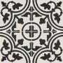Adesivo para piso preto e branco indiano lavável antiderrapante