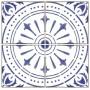 Adesivo piso ladrilho estilo português