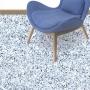 Adesivo piso granilito Terrazzo azul e branco antiderrapante