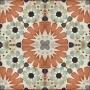 Adesivo  piso ladrilho floral marroquino lavável antiderrapante