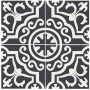 Adesivo piso ladrilho marroquino preto antiderrapante