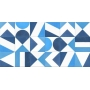 Adesivo  piso ladrilho Mosaico Azul lavável antiderrapante