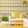 Papel de parede chevron tons de amarelo