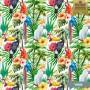 Papel de parede floral aves
