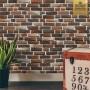 Papel de parede tijolinho queimado 3D Lavável