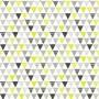 Papel Parede Infantil Unissex Triângulo Amarelo Adesivo 3Mt
