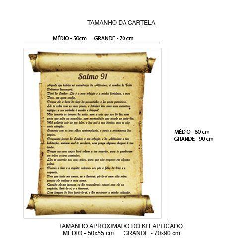 Adesivo para parede Salmo 91