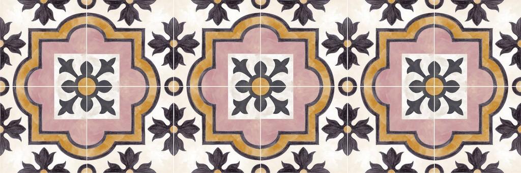 Adesivo para piso ladrilho mediterraneo antiderrapante lavável