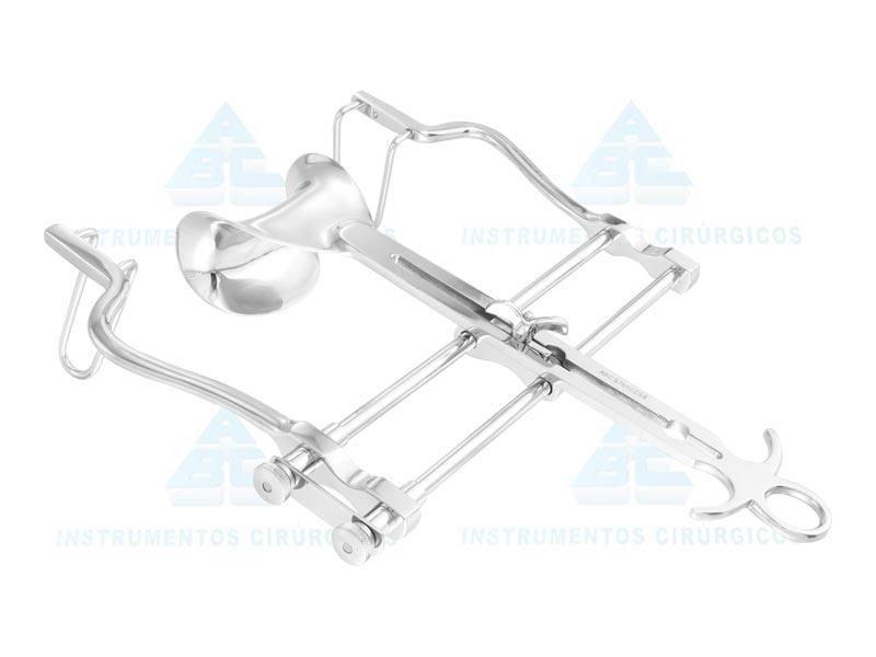 Afastador Baufor abdominal Aço inox   Com válvula CV 45x80 ABC