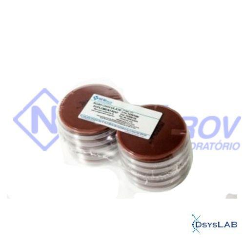 Agar Chocolate Suplementado Em placa de Petri 90x15mm NEWPROV