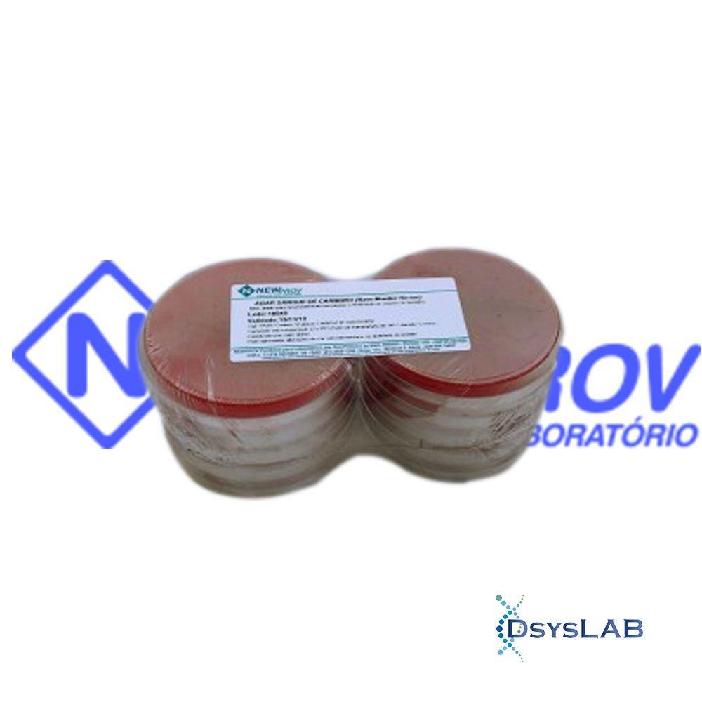 Agar Sangue de Carneiro (Base Muller Hinton) Em placa de Petri 90x15mm NEWPROV