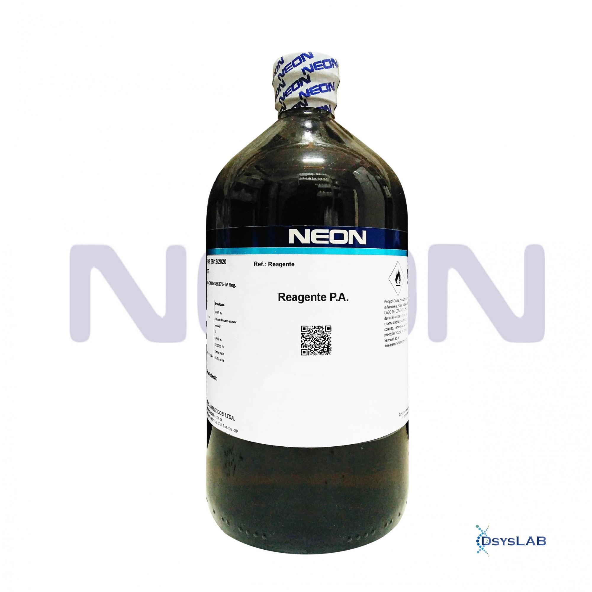 Álcool Etílico 95% P.A CAS 64-17-5 NEON