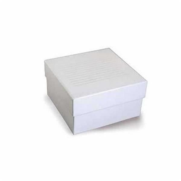 Caixa de armazenamento (Criobox) Para tubos criogênicos Tampa destacável Branco Papelão KASVI