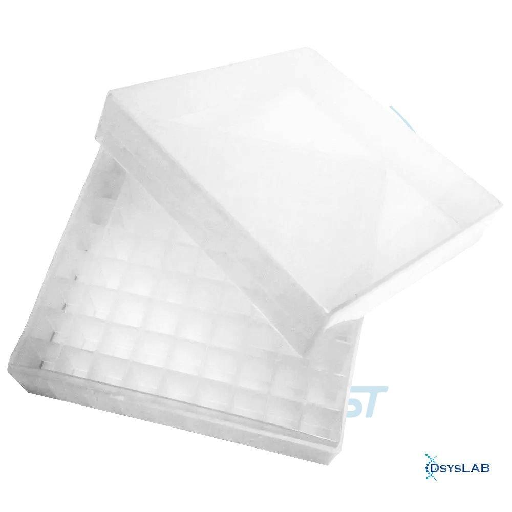 Caixa de armazenamento (Criobox) Para tubos criogênicos Tampa destacável Transparente Polipropileno (PP) CRALPLAST