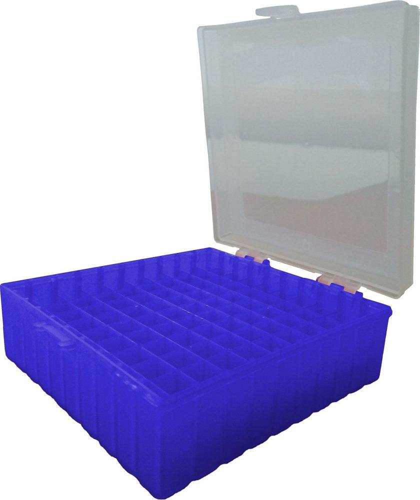 Caixa de armazenamento (Criobox) Para tubos criogênicos Tampa dobradiça com trava, alfunumérico Azul Polipropileno (PP) CRALPLAST