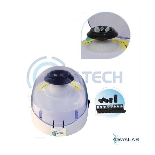 Centrífuga  Analógica  Com rotor de ângulo fixo incluso para (6 tubos de 1,5/2 mL / 16 microtubos de 200/500 uL) Até 6000 RPM CRALTECH