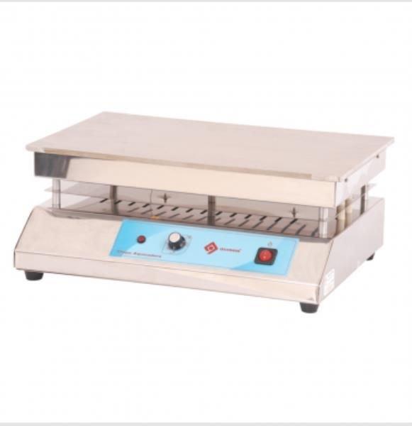 Chapa aquecedora Até 300ºC 40x30 cm Aço inox QUIMIS
