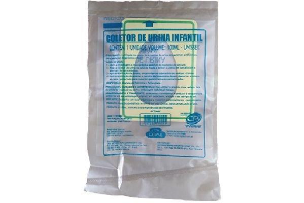 Coletor  Urina Infantil Unissex     Estéril   CRALPLAST