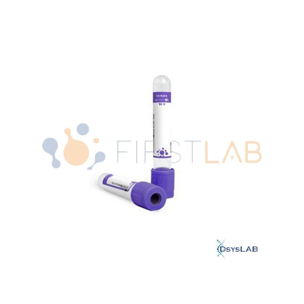 Tubo Para coleta a vácuo Lilás Com EDTA K2 Plástico PET FIRSTLAB