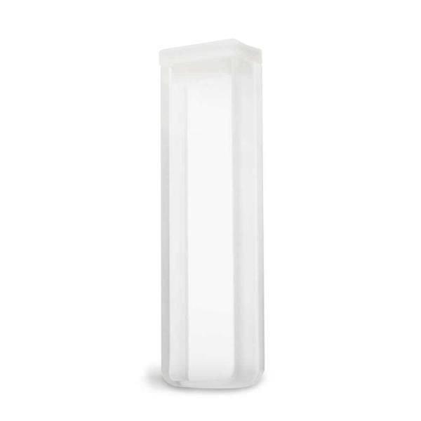 Cubeta Quartzo ES 2 faces polidas Passo 5 mm  Com tampa de PTFE KASVI