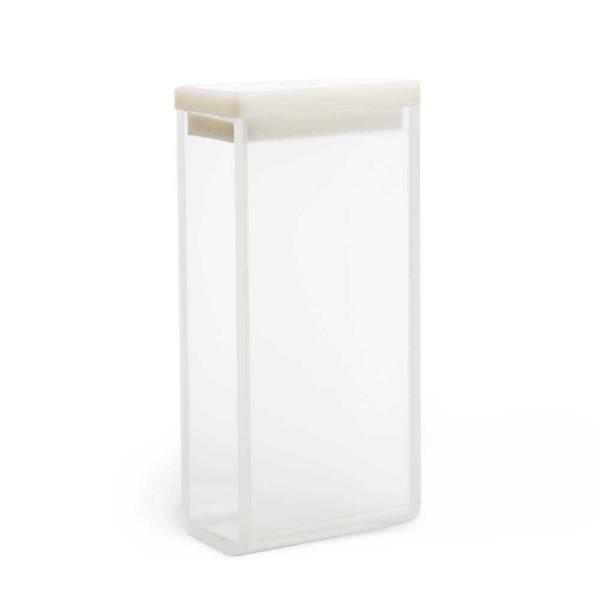 Cubeta Vidro óptico 2 faces polidas Passo 20 mm Com tampa de PTFE KASVI