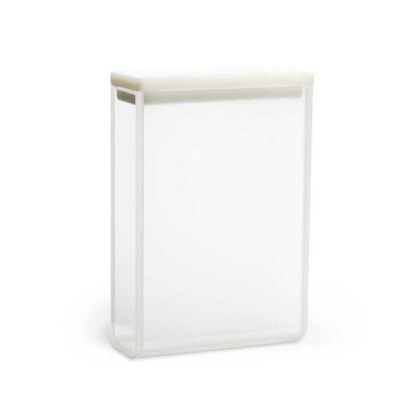 Cubeta Vidro óptico 2 faces polidas Passo 30 mm Com tampa de PTFE KASVI