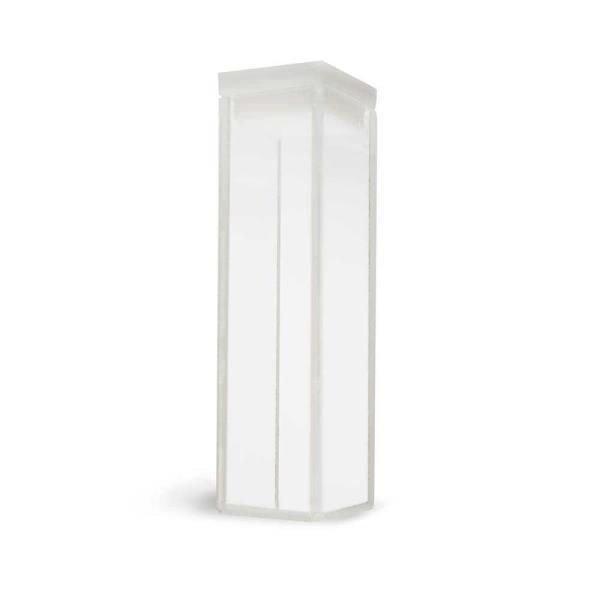 Cubeta Vidro óptico 4 faces polidas Passo 10 mm Com tampa de PTFE KASVI