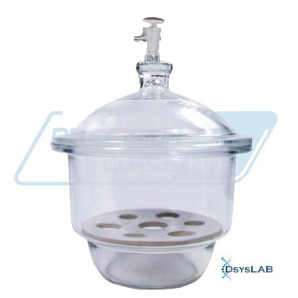 Dessecador Com tampa Disco de porcelana  Vidro neutro Com torneira PRECISION