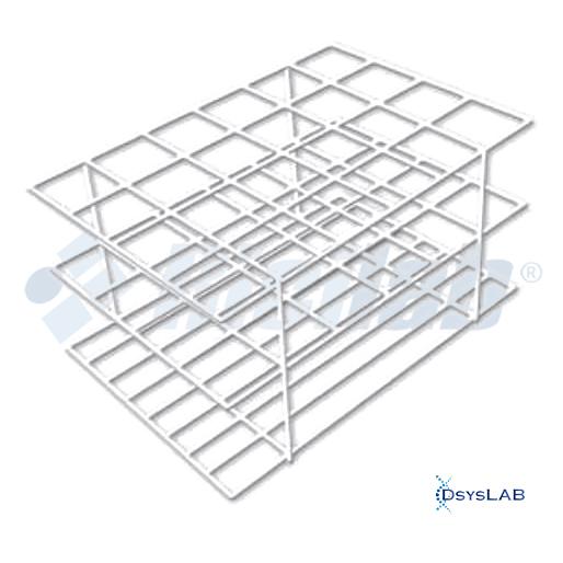 Estante Para tubos Arame revestido em PVC Branco Não autoclavável RICILAB