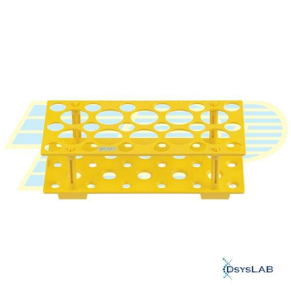 Estante Para tubos Polipropileno (PP) Amarelo Autoclavável Alfanumérica TPP