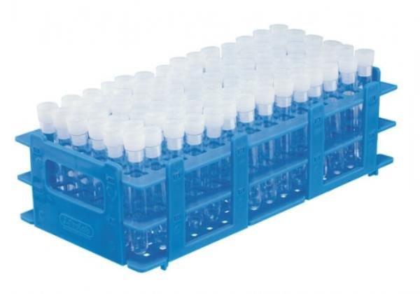 Estante Para tubos Polipropileno (PP) Azul Não autoclavável J.PROLAB