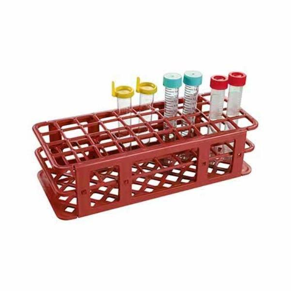 Estante Para tubos Polipropileno (PP) Vermelho Autoclavável Alfanumérica OLEN