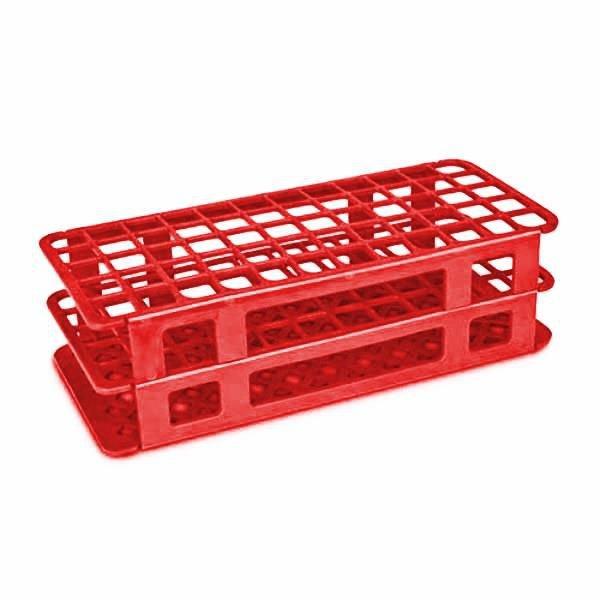 Estante Para tubos Polipropileno (PP) Vermelho Autoclavável CRALPLAST