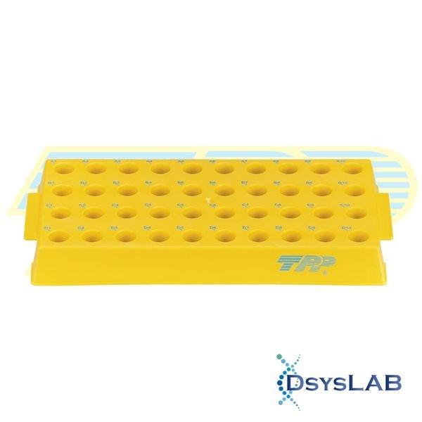 Estante (rack) Para tubos criogênicos Polipropileno (PP) Amarelo Autoclavável TPP