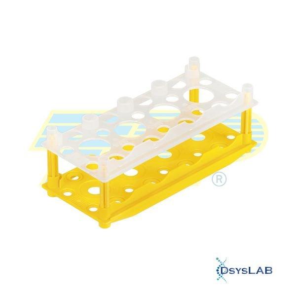 Estante (rack) Para tubos de cultura Polipropileno (PP) Amarelo Autoclavável TPP