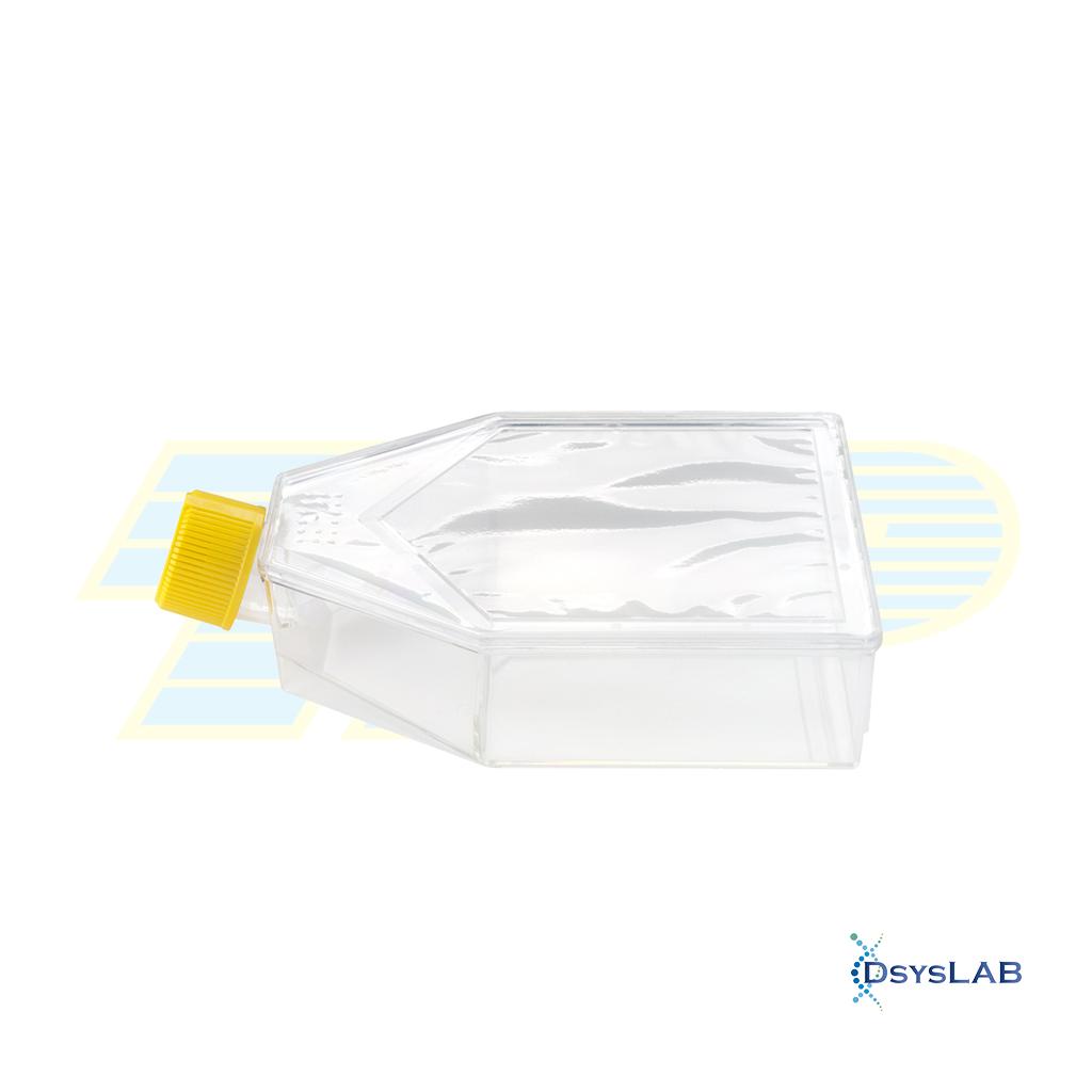 Frasco Para cultivo celular 100 mL  Estéril Tampa com filtro Com barreira  Superfície tratada Peel-off TPP