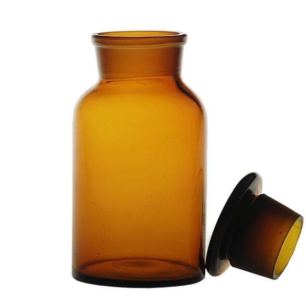 Frasco reagente Borossilicato Autoclavável Não graduado Boca larga e tampa de vidro QUALIVIDROS