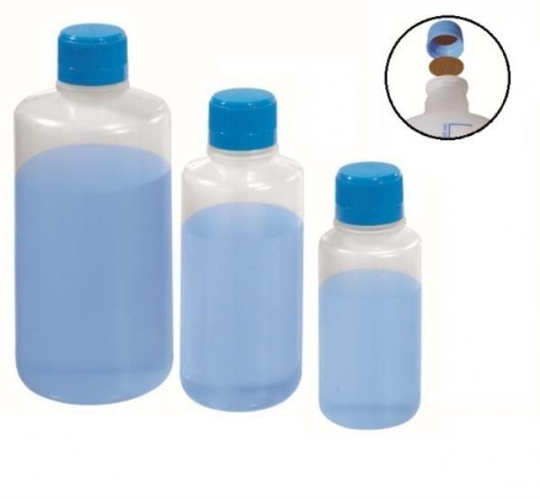 Frasco reagente Polipropileno (PP) Autoclavável Transparente Não graduado Selo de vedação em teflon J.PROLAB