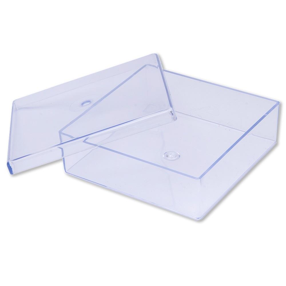 Gerbox PS Cristal Com tampa Transparente 11x11x3,5 cm QUALIVIDROS