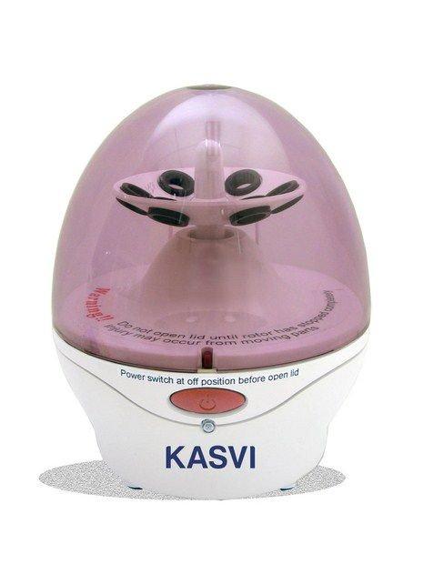 Microcentrífuga  Analógica  Com rotor de ângulo fixo incluso para (6x1,5/2mL / 16x0,2 mL) Até 6400 RPM KASVI