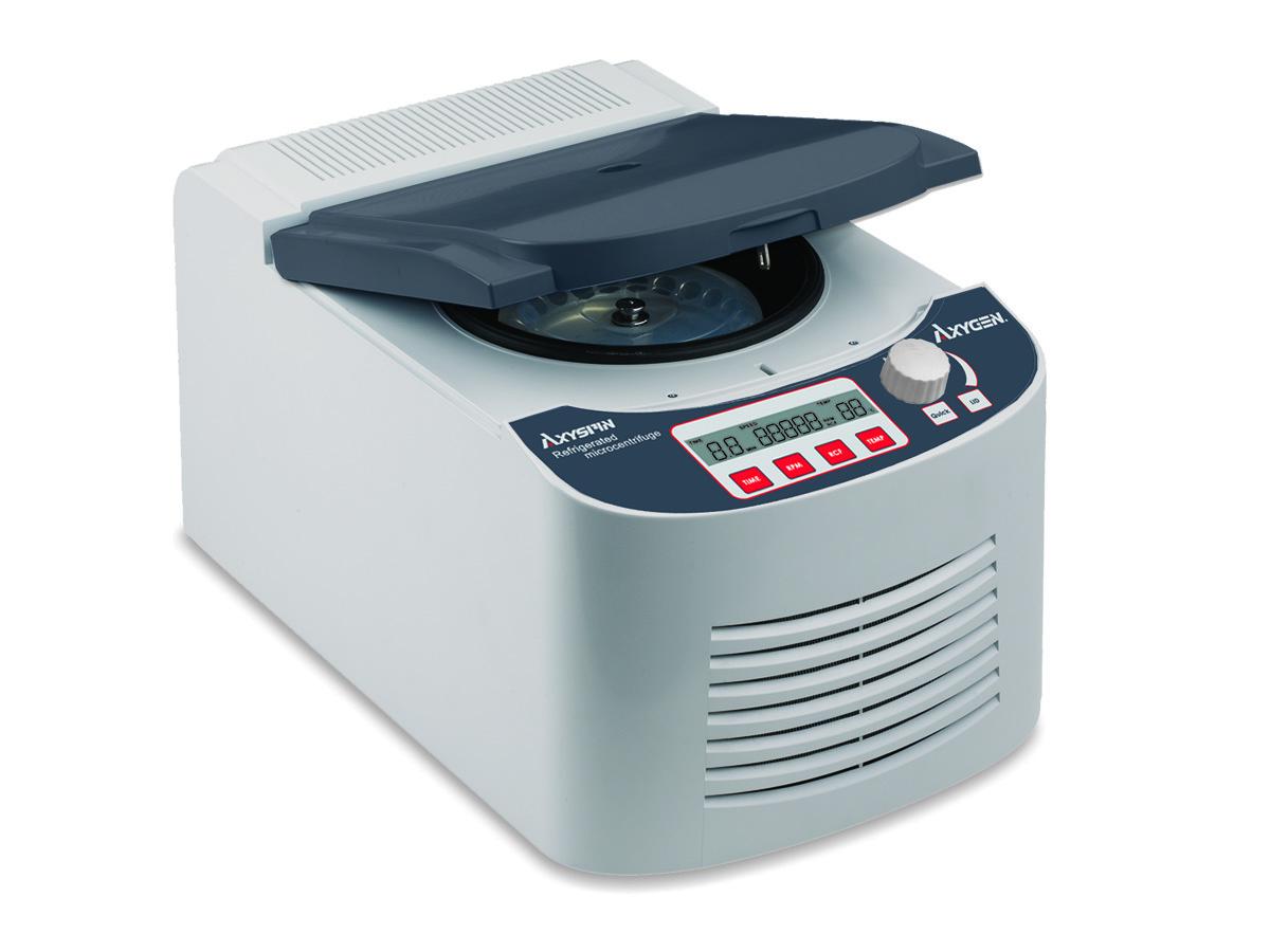 Microcentrífuga Refrigerada Analógica/Digital  Com rotor de ângulo fixo incluso para (24x1,5/2mL) Até 13500 RPM AXYGEN