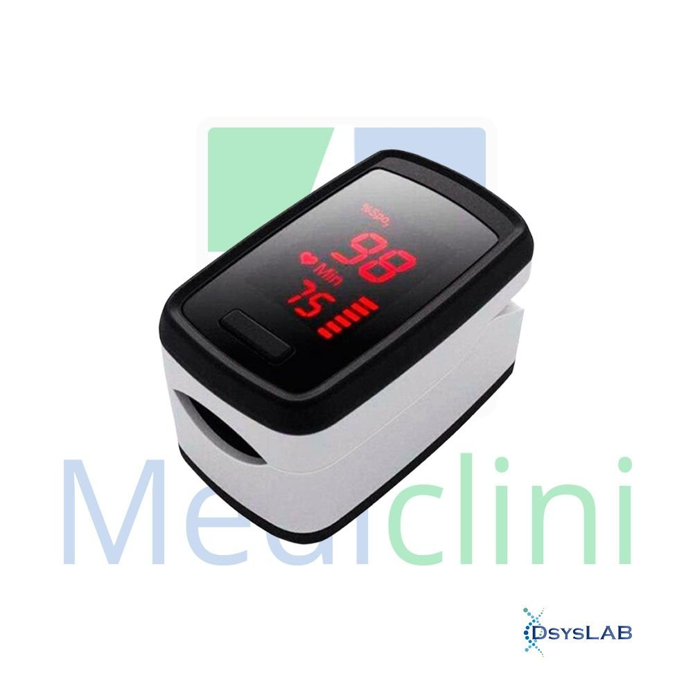 Oxímetro De dedo portátil Sensor de rotação para tela Com cordão para pescoço MEDICLINI