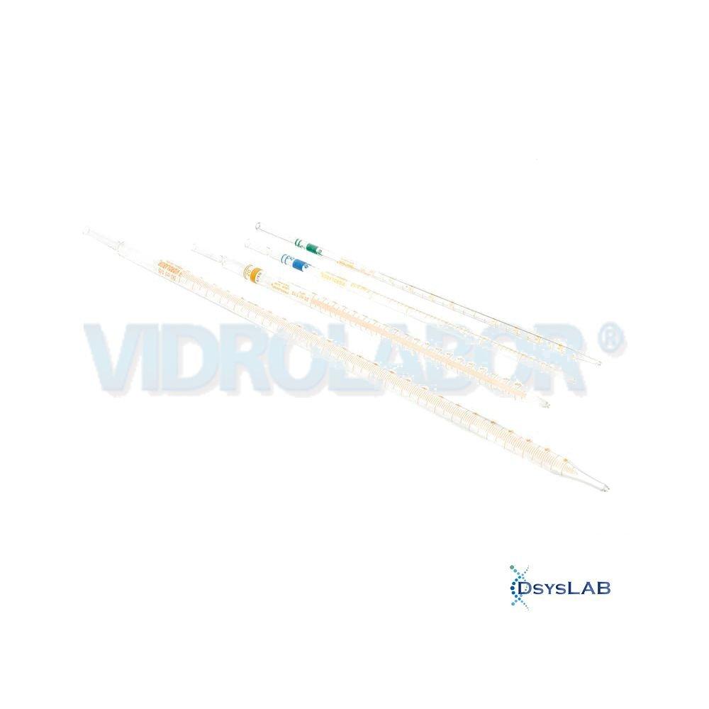 Pipeta  Sorológica Não estéril  Borossilicato  Esgotamento Total Classe A VIDROLABOR